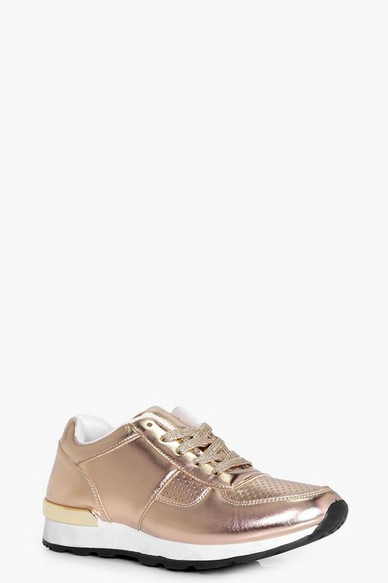 Hannah Lace Up Retro Trainer