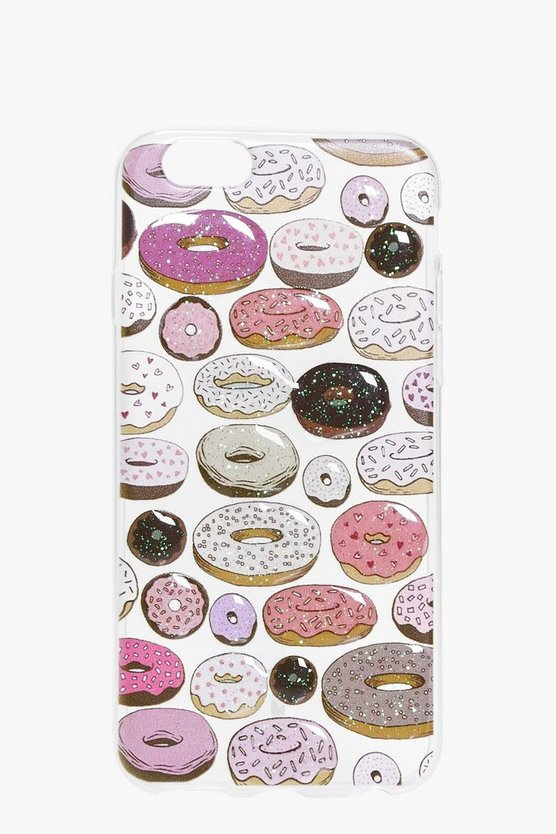 Doughnut Print Clear iPhone 6 Case