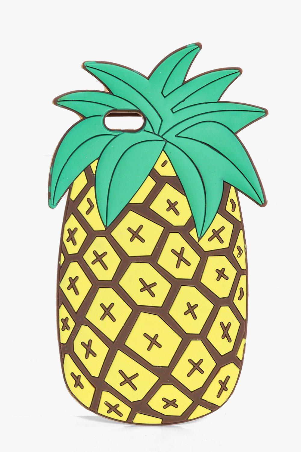 Novelty Rubber iPhone 6 Case - yellow - Pineapple