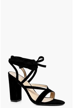 Alicia Wrap Strap Block Heels