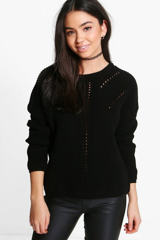 Eleanor Ladder Stitch Jumper