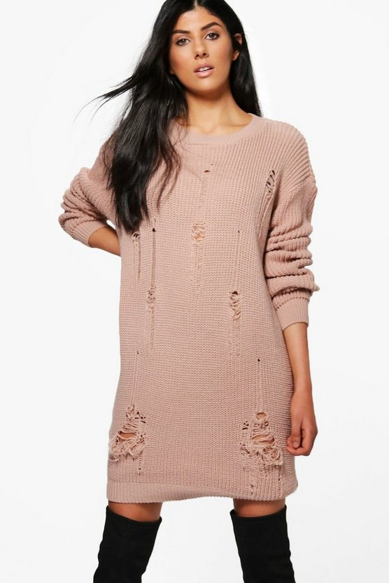 Milly Distressed Jumper Dress
