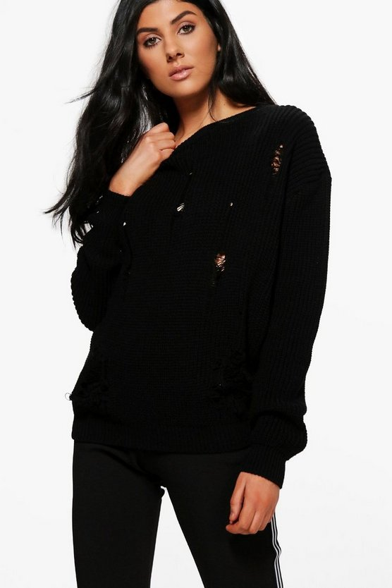 Frances Distressed Jumper