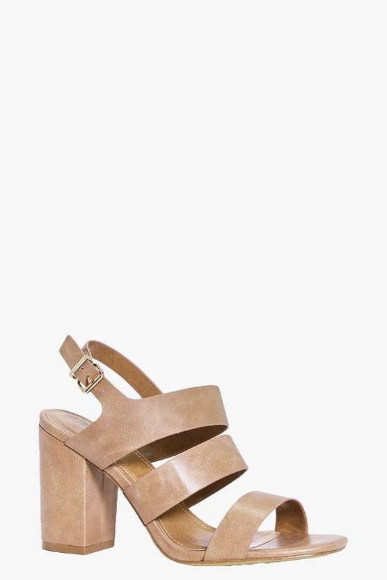 Laila Three Band Block Heels