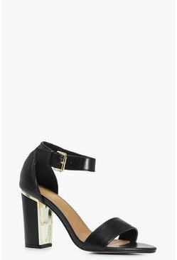 Evie Block Heel Two Part Sandal