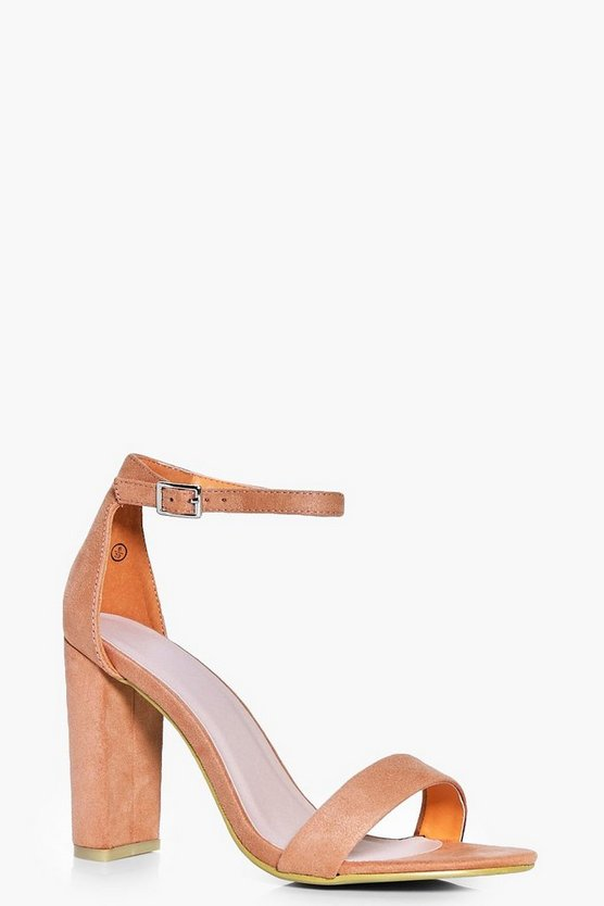 Paige Block Heel Two Part Heels