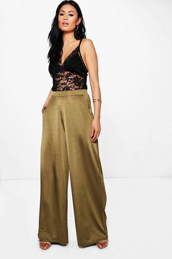 Matilda Wide Leg Slinky Trousers