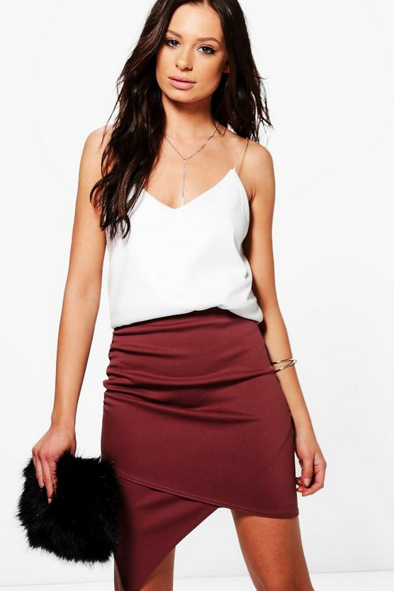 Gracie Asymetric Rouched Side Mini Skirt