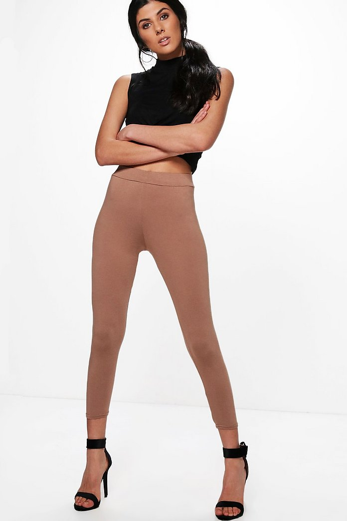 Gia Basic High Waisted Ankle Grazer Leggings