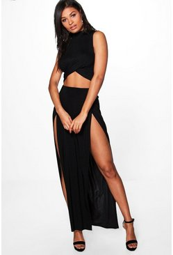 Mara Double Thigh High Split Maxi