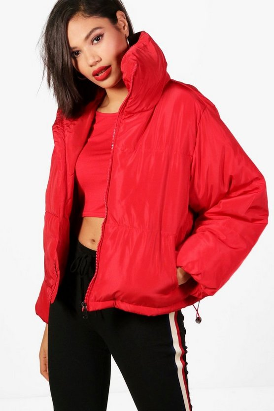 Rose Cropped Quilted Jacket