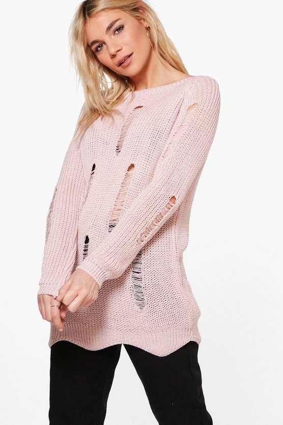 Ruby Distressed Jumper