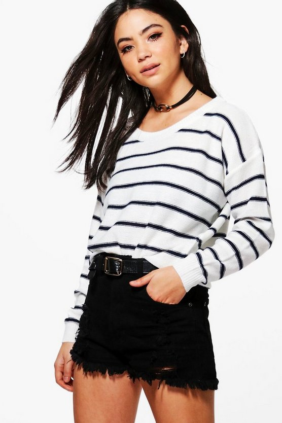 Abigail Nautical Stripe Jumper