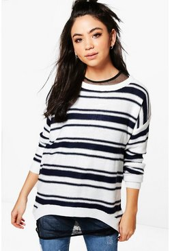 Erin Zip Back Stripe Jumper