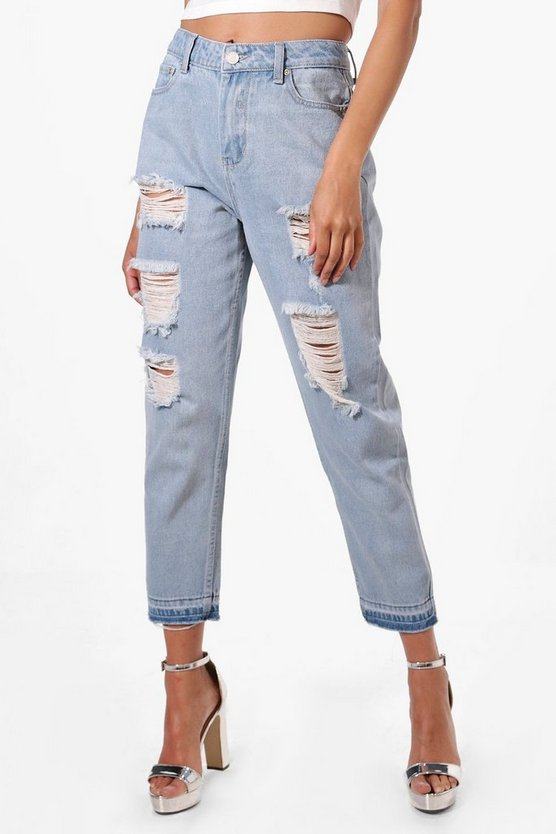 Sophie High Waist Displaced Pocket Mom Jeans