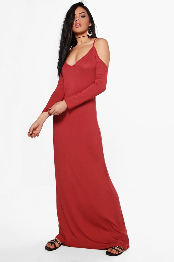 Amelia Cold Shoulder Maxi Dress
