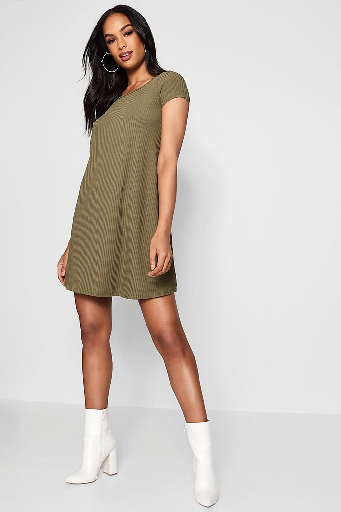 Alicia Cap Sleeve Swing Dress
