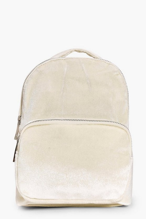 Lexi Pastel Velvet Backpack