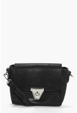 Millie Mini Lock Front Cross Body Bag