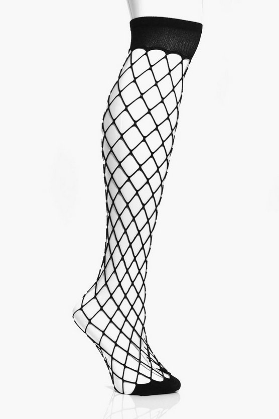 Brooke Oversized Fishnet Knee High Socks