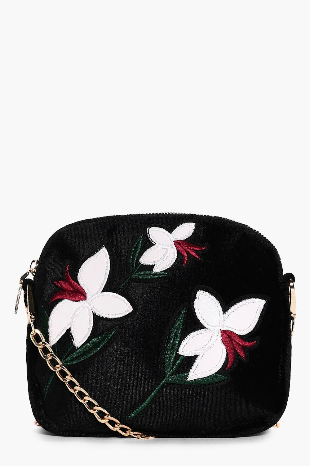 Embroidered Cross Body Bag - white - Maisie Embroi