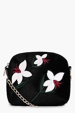 Maisie Embroidered Cross Body Bag