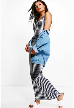 Jessica Stripe Printed Maxi Dress