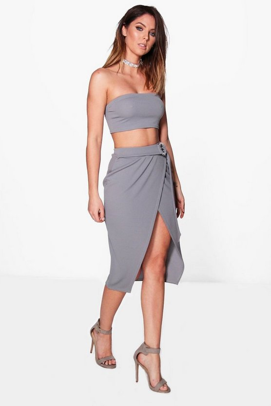 Isla Ring Belt Skirt & Bandeau Co-ord Set