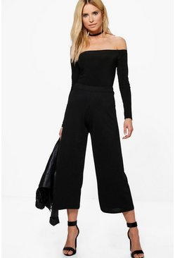 Lana Off Shoulder Body & Culotte Co-ord Set