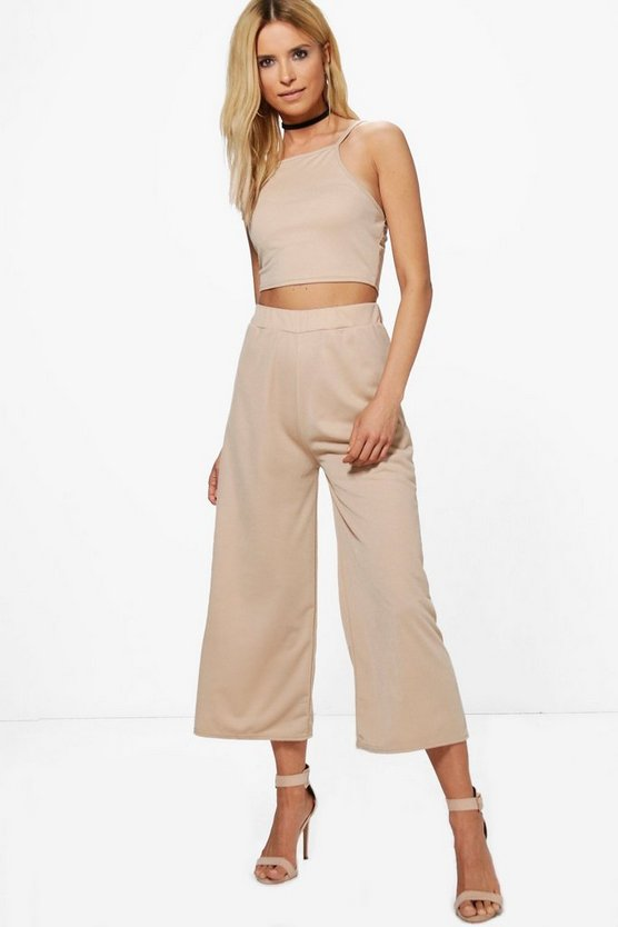 Selina Strappy Crop & Culotte Co-ord Set