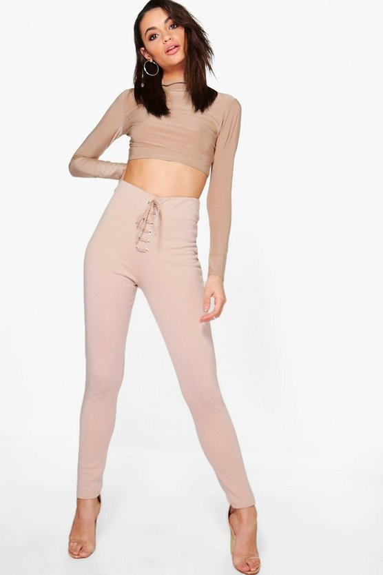 Asia Slinky Crop & Sweat Legging Co-ord Set