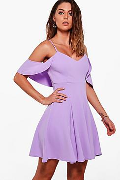 Grace Strappy Drop Shoulder Skater Dress