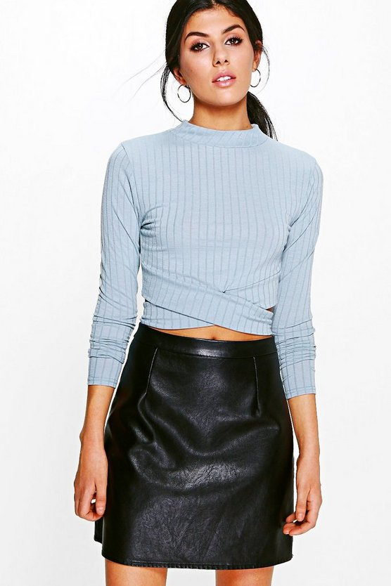 Rosie Cut Out Detail Rib Crop
