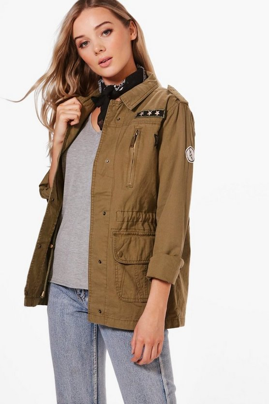 Nicole Utility Jacket With Badges