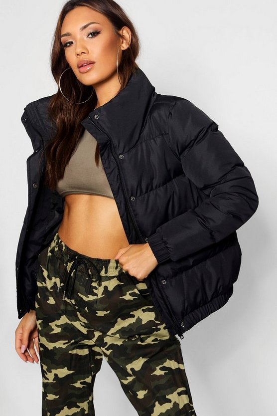 Bethany Crop Funnel Neck Padded Jacket