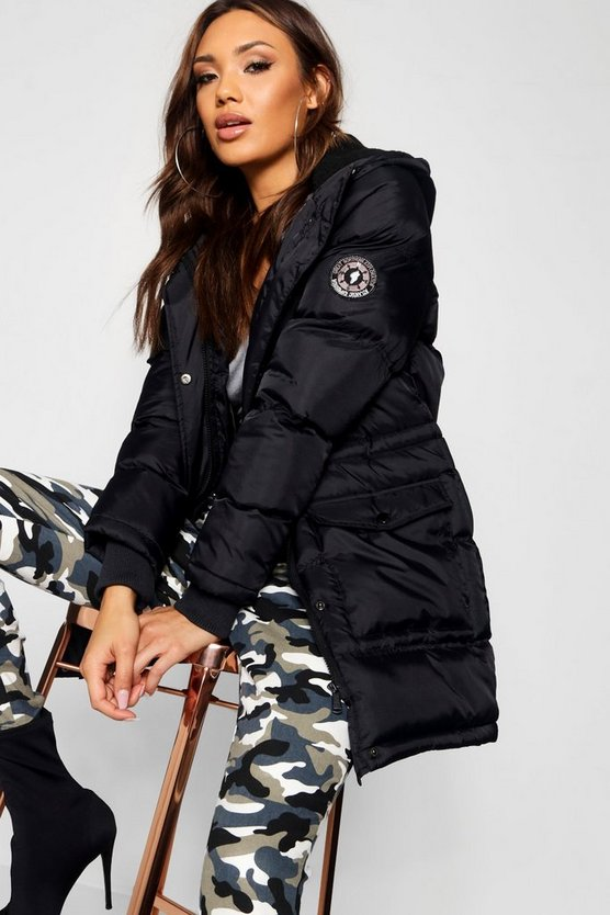 Veronica Quilted Sporty Padded Parka