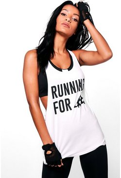 Katie Pizza Slogan Running Vest