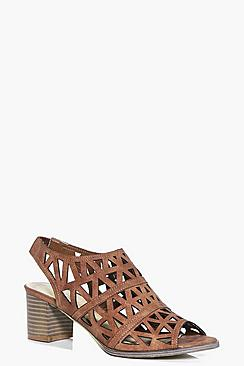 Harriet Lazer Cut Peeptoe Show Block Heels