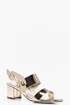 Anna Double Band Low Block Heels