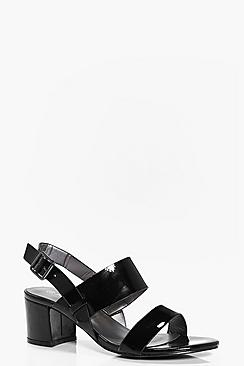 Phoebe Double Band Low Block Heels