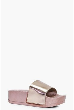 Gracie Metallic Sliders