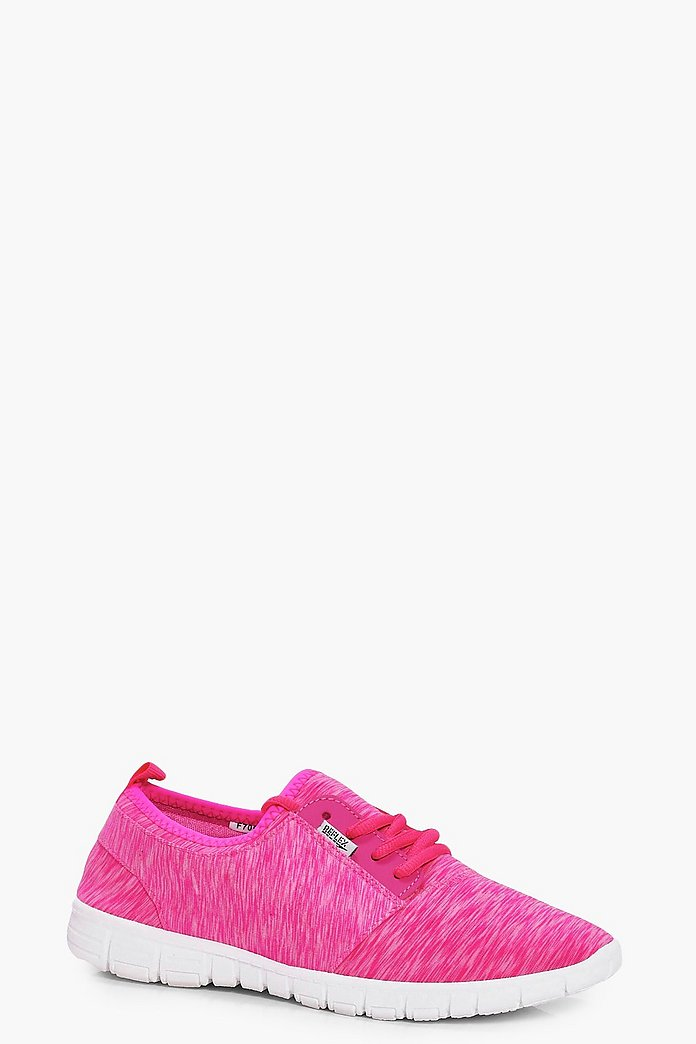 Imogen Mixed Jersey Lace Up Trainers