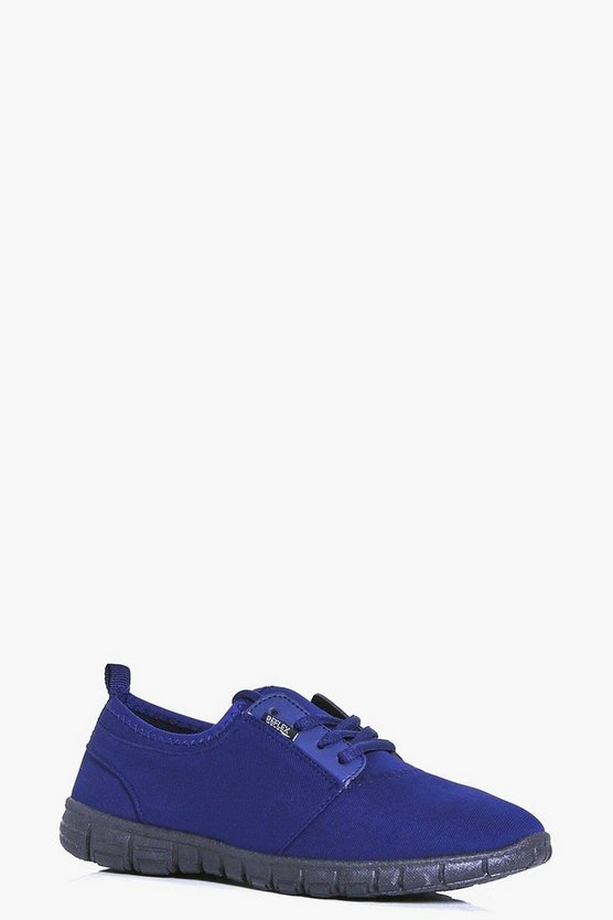 Abigail Jersey Lace Up Trainer