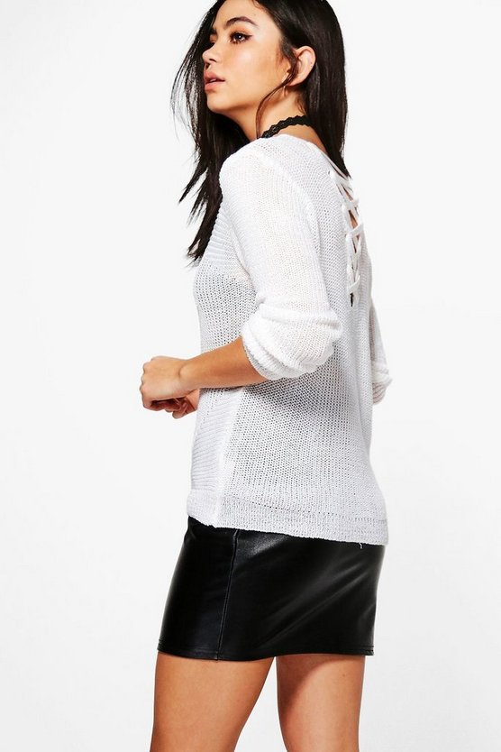 Lexi Lace Up Back Jumper