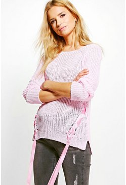 Katie Lace Up Jumper