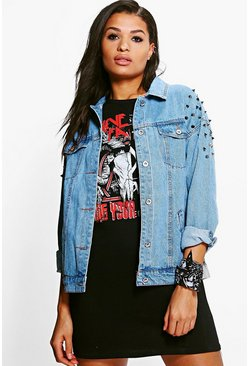 Jodie Oversize Studded Denim Jacket
