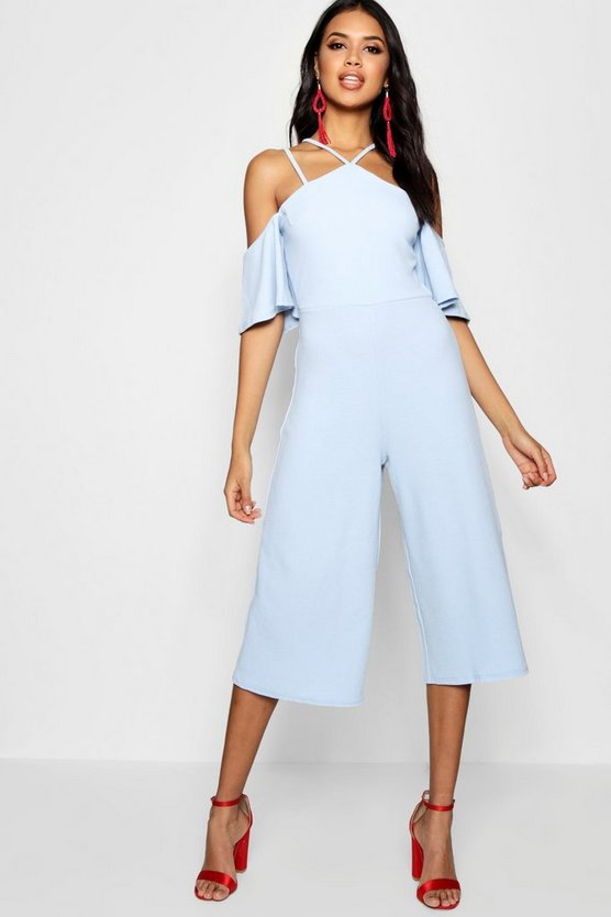 Rosie Open Shoulder Culotte Jumpsuit
