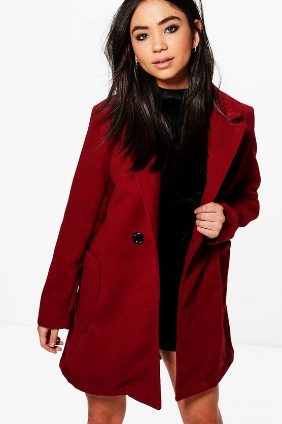 Bella Double Breasted Boyfriend Coat
