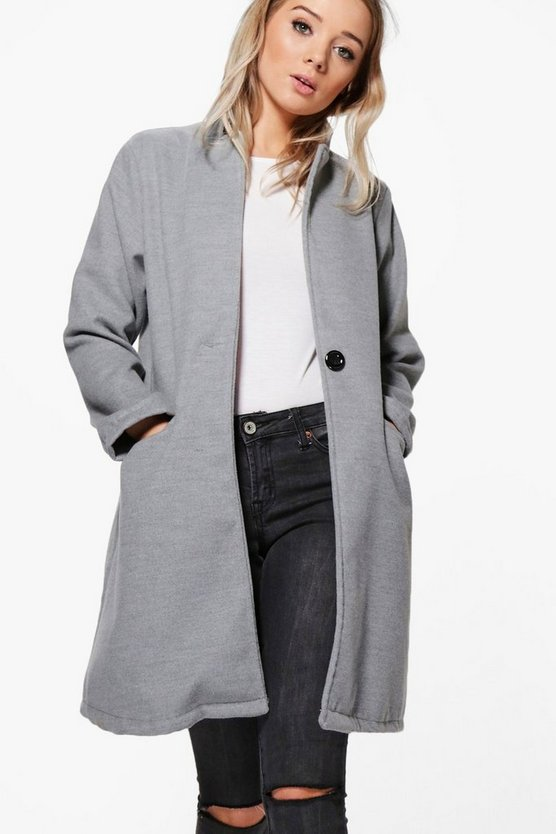 Megan Notch Neck Coat