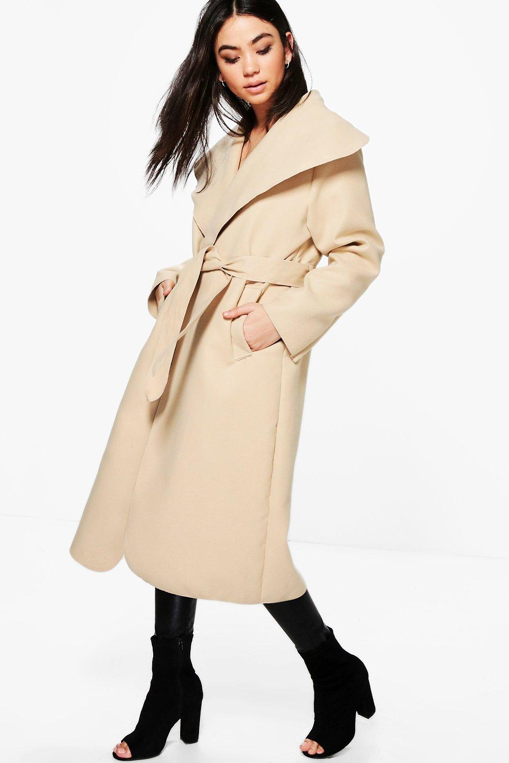 Maria Oversized Shawl Collar Coat